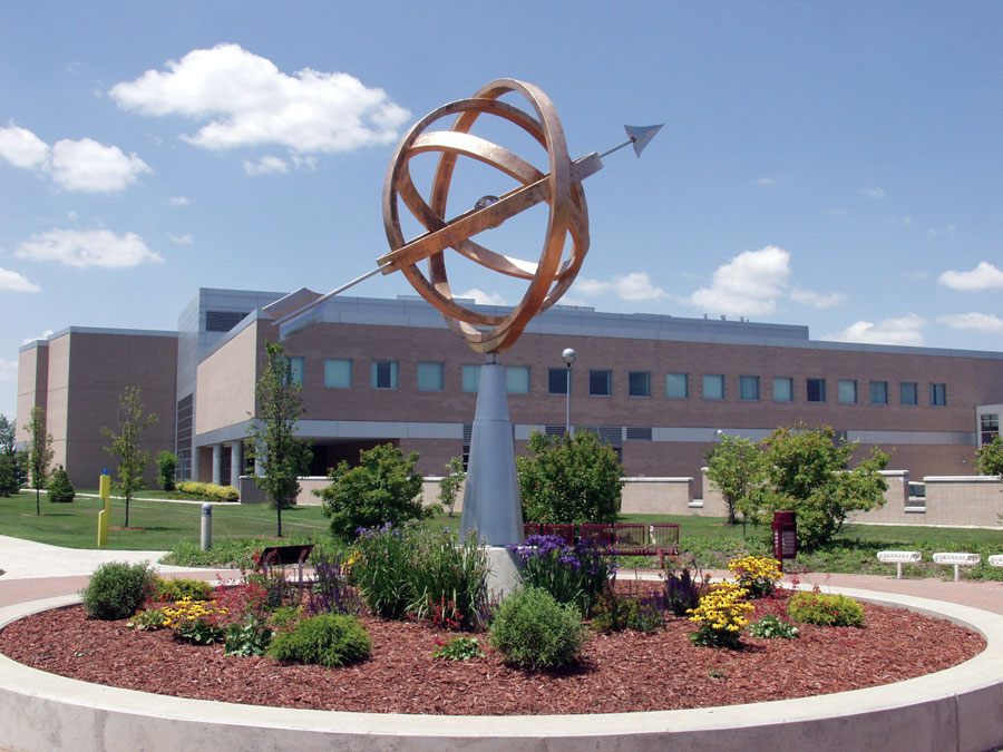 The Armillary Sphere Sculpture on the Mott Community College Campus
