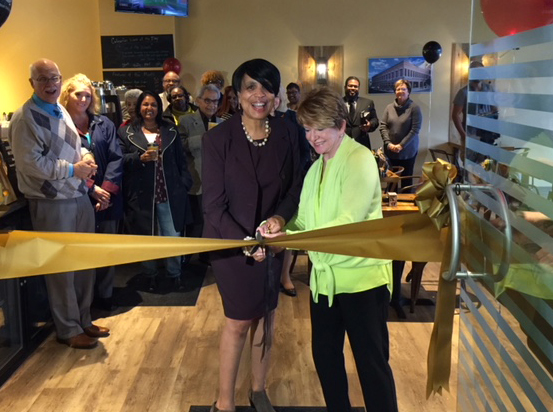 Ribbon Cutting for the Coffee Beanery
