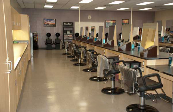 The Transitions School of Cosmetology, styling stations