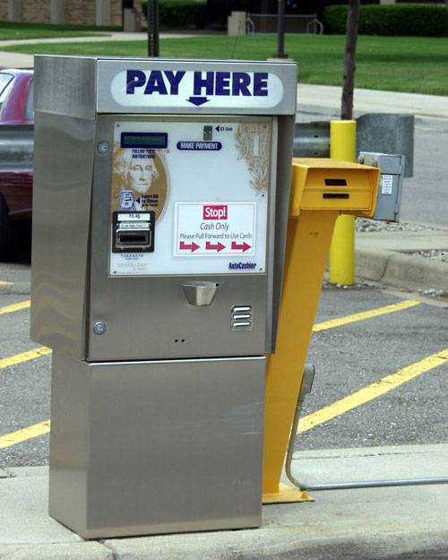 Paid Parking Lot Machine