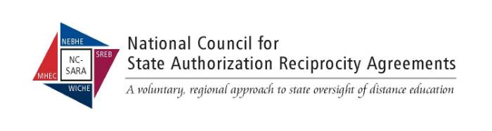 SARA - State Authoriztion Reciprocity Agreement logo and link to SARA