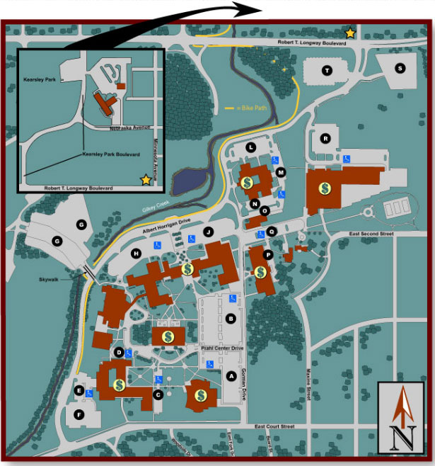 campus map of main campus of MCC