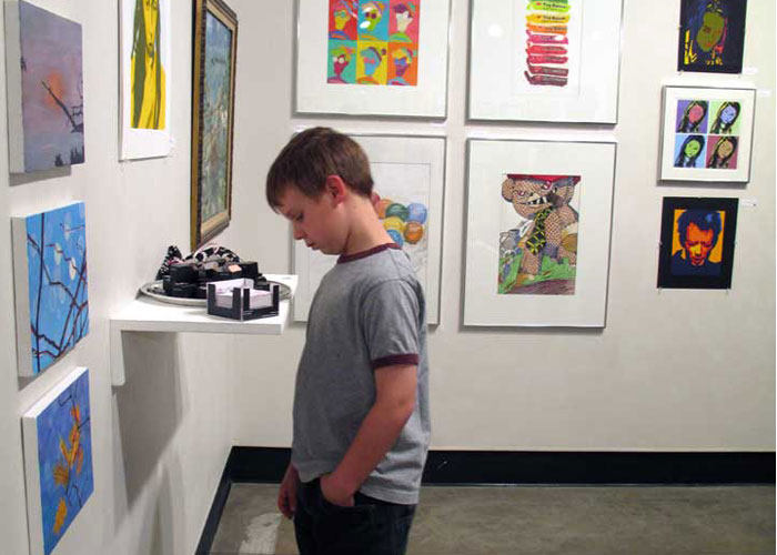 Student in Fine Arts Gallery