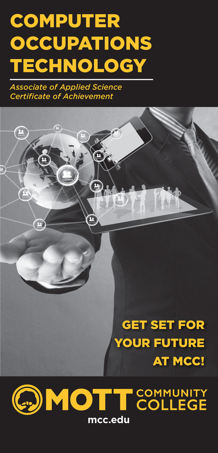 Cover of brochure Computer Occupations Technology - Get Set for your Future At Mott