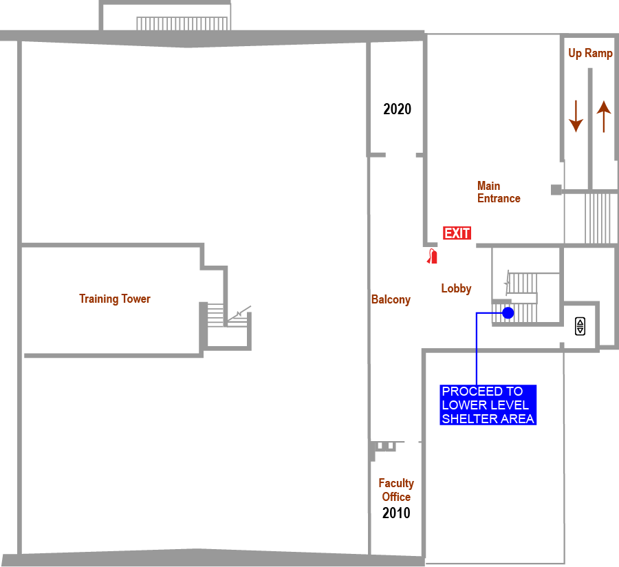 Durham Wellness and Physical Education Center Floor Plan Map