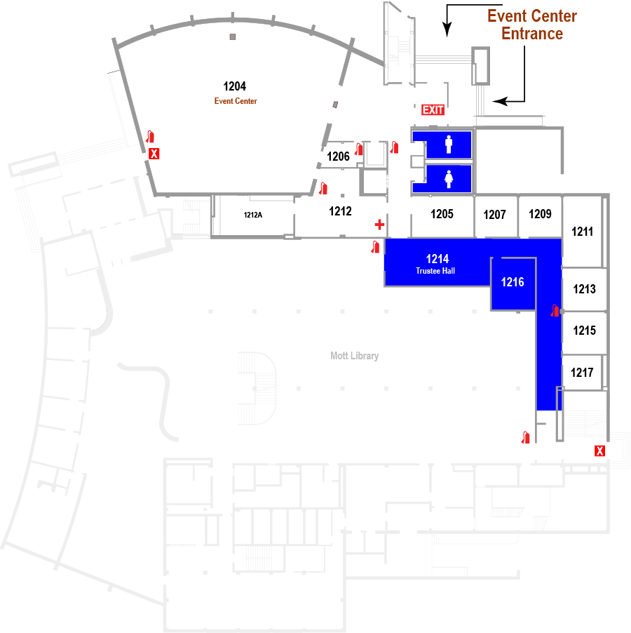 Event Center Floor Plan Map