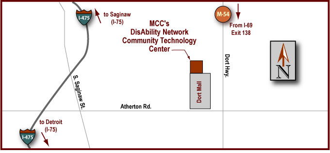 Disability Network CTC Driving Map