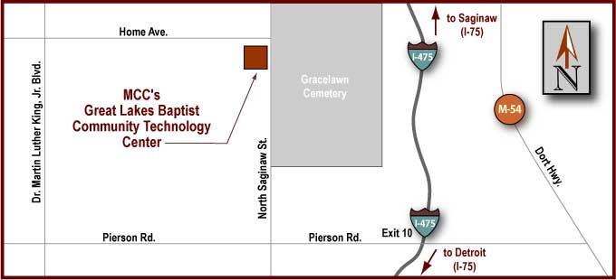 Great Lakes Baptist CTC Driving Map