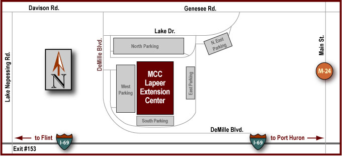 Lapeer Extension Center Driving Map
