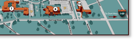 MCC Main Campus Map