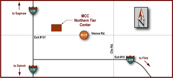 Northern Tier Center Map
