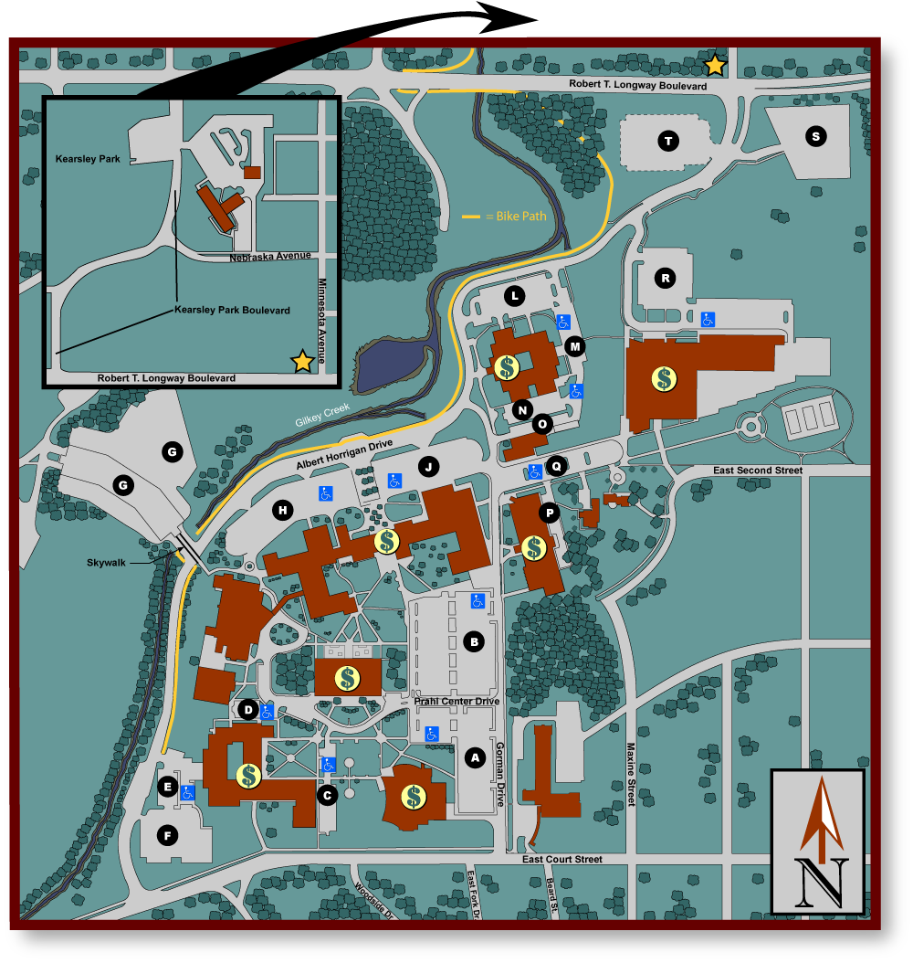 Main Campus Parking Map