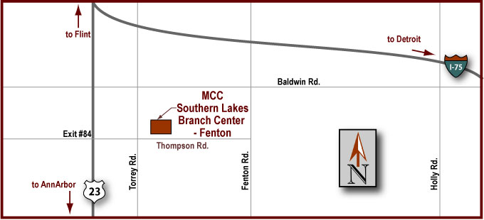 Southern Lakes Branch Center - Fenton Map
