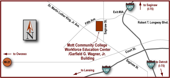 Workforce Education Center/Garfield G. Wagner Building - Driving Map
