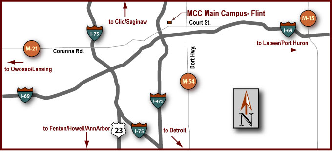 Main Campus - Flint Driving Map