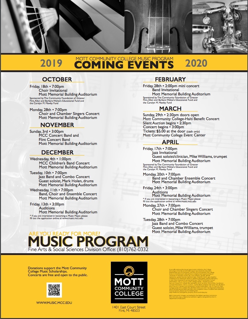 Music Program - Coming Events