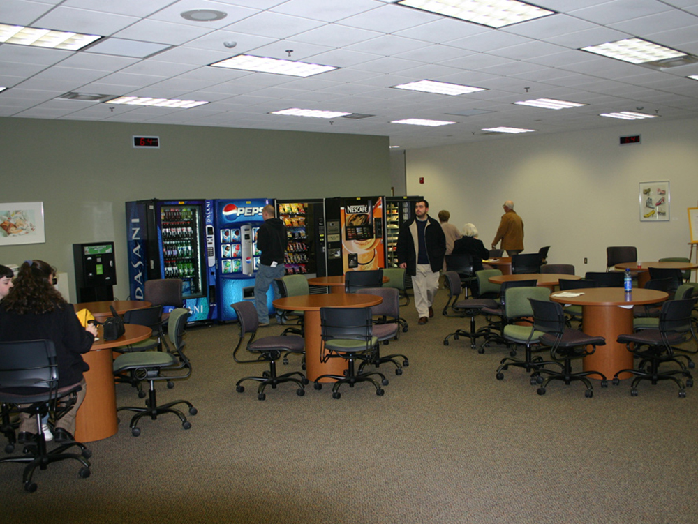 student lounge and vending area at Northern Tier Center