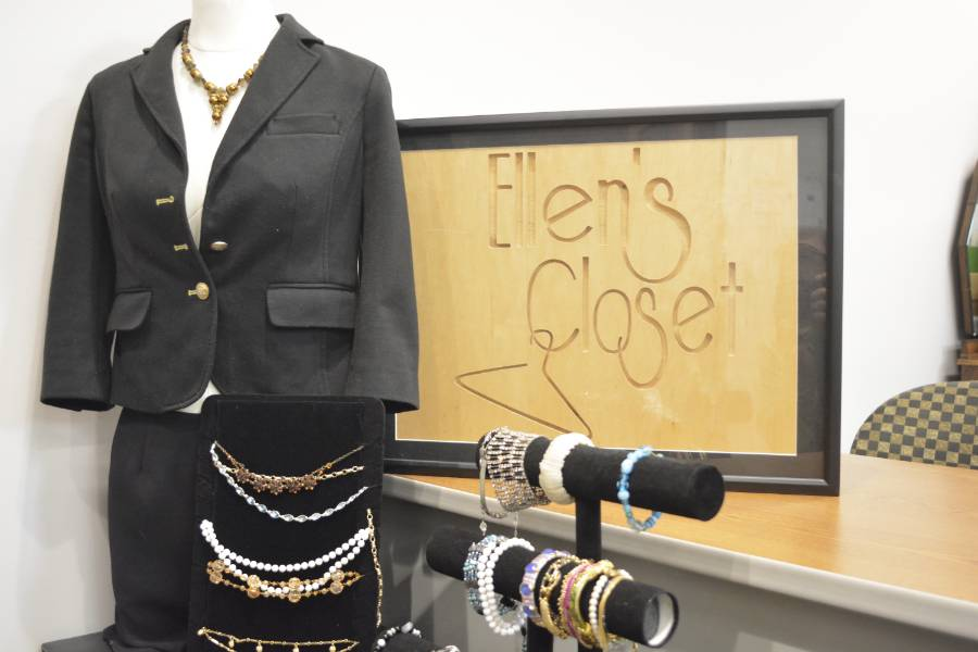 Ellen's Closet Sign  and Women's Business Suit, Jewerly and Merchandise
