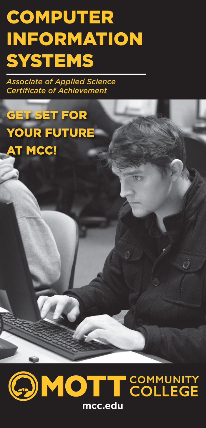cover of brochure student at computer Get Set for Your Future at MCC